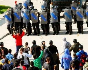 Chevron in Vaslui: Ce masuri a luat sambata Jandarmeria impotriva protestatarilor