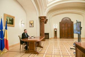 Klaus Iohannis, in videoconferinta cu Guvernul: Pe mine ma intereseaza, in aceasta faza, sa ne miscam foarte repede