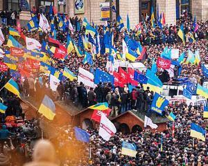 La Kiev au loc noi proteste in fata primariei, dupa ce aceasta a fost evacuata