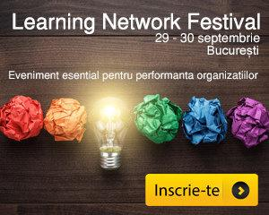 Eveniment Learning Network Festival, 29-30 septembrie