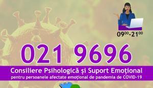 Linie telefonica de asistenta psihologica pentru persoanele afectate de epidemia de coronavirus
