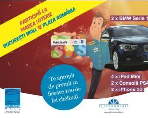 Clientii Bucuresti Mall si Plaza Romania pot participa la doua loterii cu premii de 200.000 de lei