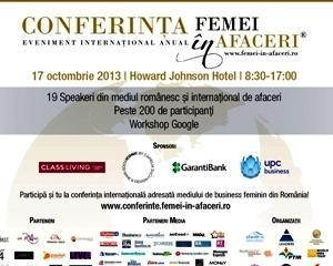 Conferinta Internationala FEMEI in AFACERI - Mediul de business feminin romanesc fata in fata cu cel international
