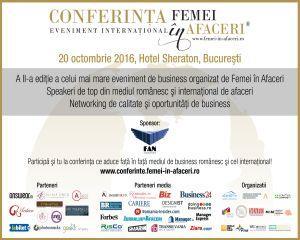 Specialistii in business se intalnesc la cea de-a doua editie a Conferintei Internationale Femei in Afaceri 2016