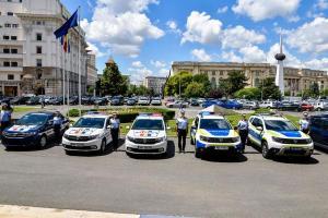 Un lot nou de autovehicule Dacia Duster, Logan si Dokker intra in dotarea Politiei Romane
