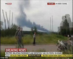 Un avion malaezian de pasageri s-a prabusit in partea de est a Ucrainei. Unele surse sustin ca ar fi fost doborat