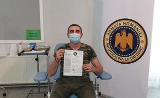 Armata Romaniei continua razboiul cu pandemia: maraton de vaccinare in centrele MApN intre 4-11 mai 2021