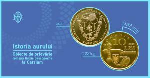 BNR dedica o moneda obiectelor de orfevrarie tarzie descoperite la Carsium
