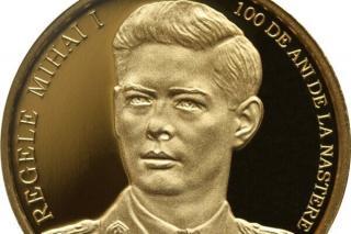 BNR dedica cea mai scumpa moneda din istoria sa Centenarului Regelui Mihai I al Romaniei. Moneda costa 11.600 de lei fara TVA