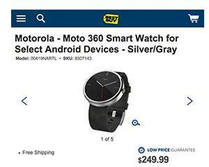 Ceasul inteligent Moto 360 va costa 249,99 dolari