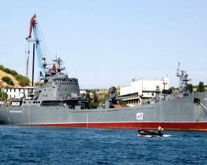Rusia invadeaza Crimeea? Nave militare rusesti langa coasta ucraineana