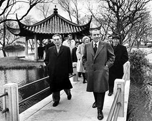 21 februarie 1972: Richard Nixon viziteaza China