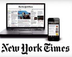 """New York Times limiteaza numarul de articole online pentru cititorii """"mobili"""""""