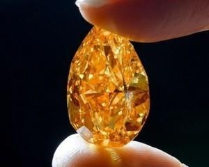Cel mai mare diamant portocaliu valoreaza 35,5 milioane de dolari