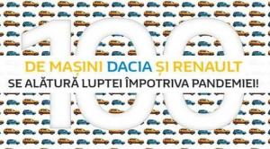 Groupe Renault Romania pune la dispozitia spitalelor din Romania 100 de vehicule Dacia si Renault