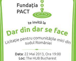 Dar din dar se face: Eveniment de strangere de fonduri pentru comunitatile mici din sudul Romaniei