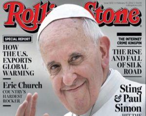 Papa Francisc: aparitie pe prima pagina a revistei Rolling Stone