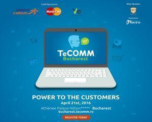 Top playerii eCommerce-ului national, prezenti la TeCOMM Bucharest