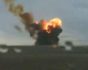 Explozie uriasa, la centrul spatial Baikonur. O racheta Proton-M a sarit in aer, imediat dupa lansare