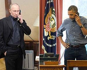 Vladimir Putin l-a sunat pe Barack Obama pentru a discuta despre criza din Crimeea