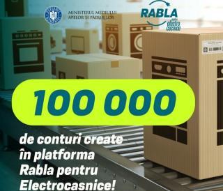 Romanii se inghesuiesc virtual ca sa recicleze real: peste 100.000 de conturi in platforma Rabla pentru electrocasnice