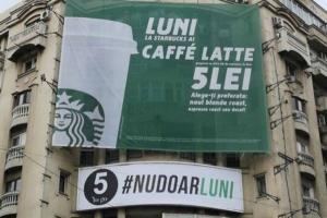 Cine este in spatele reclamei geniale de doar 150 Euro care ironizeaza ofertele Starbucks. 5 To Go a cucerit internetul
