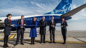 Blue Air a personalizat un Boeing 737-800 NG cu portretul Regelui Ferdinand I