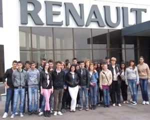 350 de elevi si profesori au vizitat Centrul Tehnic Titu si uzinele Dacia de la Mioveni