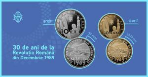 BNR dedica o emisiune numismatica celor 30 de ani de la Revolutia Romana din Decembrie 1989