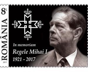 Romfilatelia introduce in circulatie marca postala In memoriam, Regele Mihai I  1921-2017