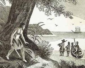 2 februarie 1709: este recuperat  de pe o insula pustie adevaratul Robinson Crusoe, dupa 52 de luni de izolare