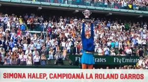 Simona Halep castiga finala Roland Garros 2018