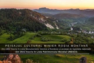 Romania a reusit inscrierea Peisajul cultural minier Rosia Montana in Lista Patrimoniului Mondial UNESCO si a Patrimoniului in pericol