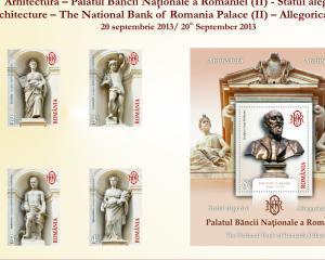 """Romfilatelia pune in circulatie timbre cu """"Statui alegorice"""""""