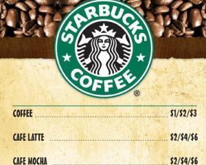 Starbucks va afisa numarul de calorii pentru fiecare produs al sau, din 25 iunie