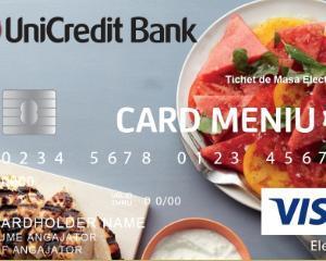 UniCredit Bank lanseaza cardul pentru acordarea tichetelor de masa in format electronic