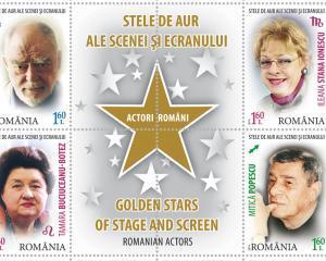 Stelele de aur ale scenei si ecranului, pe timbre