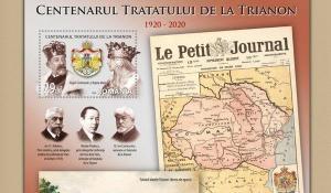 Emisiune filatelica dedicata Centenarului Tratatului de la Trianon, care a consfintit Marea Unire