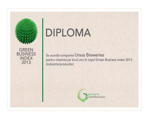 URSUS Breweries, castigatorul marelui premiu Green Business Index 2013