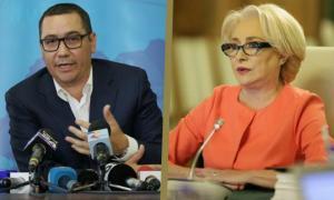 Ponta vs. Dancila - Razboi pe Facebook: E papusita de baronii locali / Ponta are un stil mincinos si duplicitar