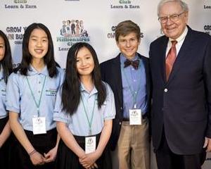 Buffett: Copiii trebuie sa fie educati din punct de vedere financiar, pentru a sustine antreprenoriatul