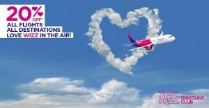 WIZZ AIR ofera reducere de 20% la zborurile din februarie