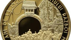 BNR dedica o moneda din aur incheierii Primului Razboi Mondial