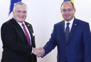 Ministrul afacerilor externe l-a primit pe noul ambasador al SUA la Bucuresti, Adrian Zuckerman